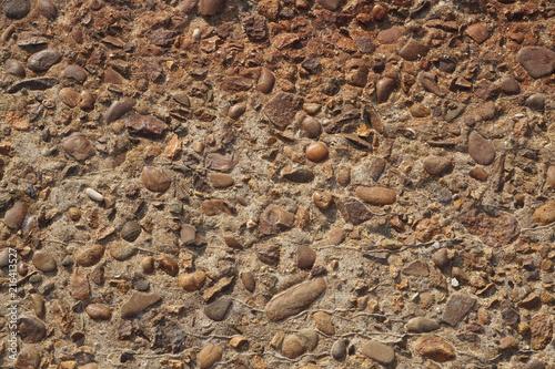In de dag Betonbehang Texture of concrete with stones