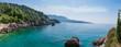 Quadro panorama dell' Albania vicino alla Grecia