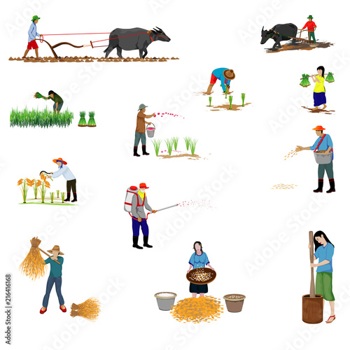 farmer shape vector design - 216416168