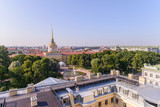 View from the roof to St. Petersburg, the sights of the city from a height. Admiralty building - 216416963