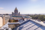 View from the roofs to St. Petersburg, the sights of the city from a height - 216417194