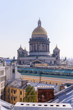 View from the roofs to St. Petersburg, the sights of the city from a height - 216417398