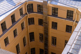View from the roofs to St. Petersburg, the sights of the city from a height - 216417512
