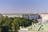 View from the roofs to St. Petersburg, the sights of the city from a height - 216417570