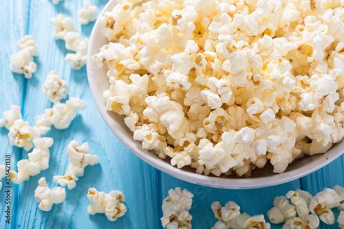 Popcorn snack in bowl - 216421138