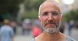 Mature caucasian man in city face portrait - 216422596