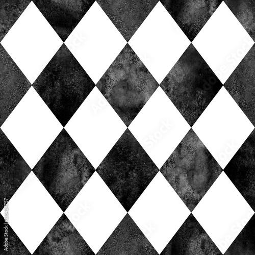 Black and white argyle seamless pattern background - 216424757
