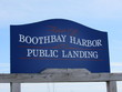 """Sign in Boothbay Harbor, Maine, which reads, """"Town of Boothbay Harbor Public Landing"""""""