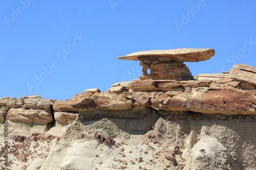 Fotobehang Beige Gallionsfigur in der Bisti Wilderness Area New Mexico USA