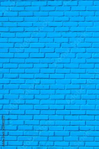 Foto Spatwand Graffiti Blue Brick Wall