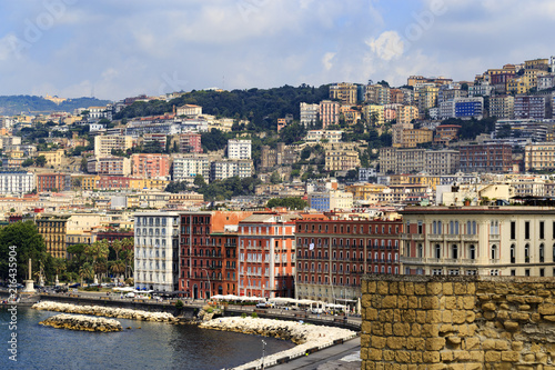 In de dag Napels City of Naples in Campania, Italy cityscape