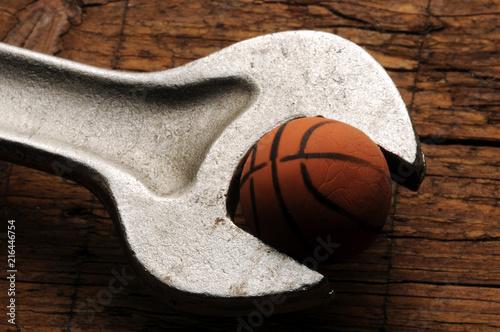 Foto Spatwand Basketbal Basketball