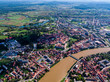 Old star in Karlovac city, beautiful old town, historical landmark of Croatia, Karlovac, city with 4 rivers, flood season - 216448703