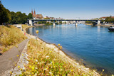 View of Rhine embankment in Basel, Switzerland - 216450364