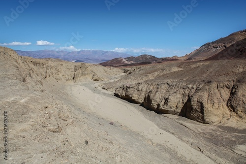 Dry riverbed near Artist's Palette in Death Valley National Park