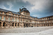 The Louvre Museum in a freezing winter day just before spring