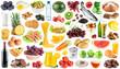 Leinwandbild Motiv Collection of food and drink