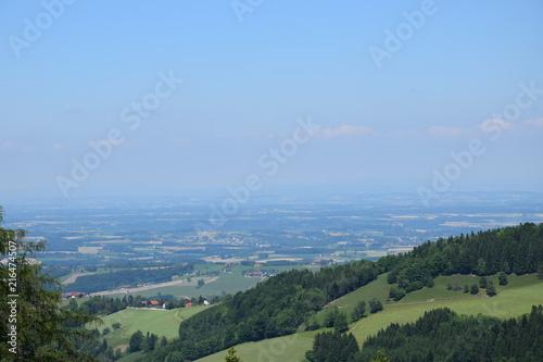Foto Spatwand Blauwe hemel Long View