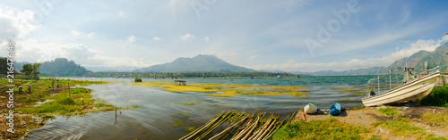 Plexiglas Bali Panorama of Lake Batur, in natural crater of Batur volcano, Bali, Indonesia.