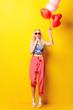 Leinwandbild Motiv girl with balloons