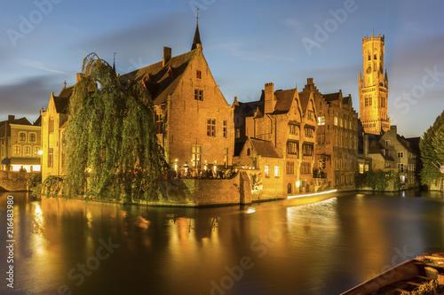 Foto Spatwand Brugge Bruges Old town