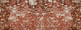 Cracked brick wall texture
