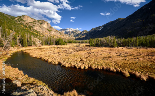 Foto Spatwand Bergrivier East Inlet Creek in Rocky Mountain National Park