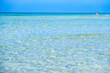 transparent water crystalline sea in Maldive del Salento Apulia Italy