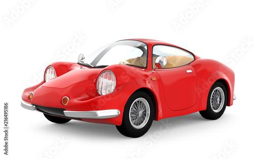 retro sport car cartoon 3d - 216495186