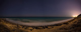 Night panorama of the sea shore