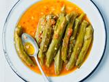 rustic greek mediterranean stewed okra - 216510541