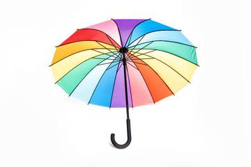 Colorful opened umbrella