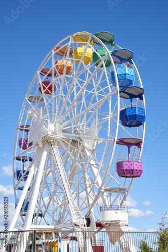 Aluminium Barcelona Ferris wheel on Tibidabo amusement park Spain, Barcelona