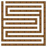 Wood square maze 10x10 - 216521130