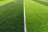 Green grass used for football matches background.