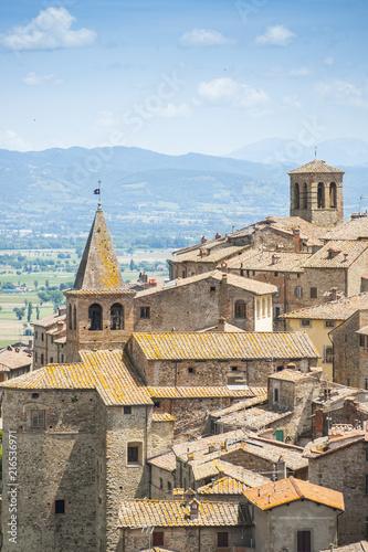 Canvas Toscane Panorama di Anghiari (AR)