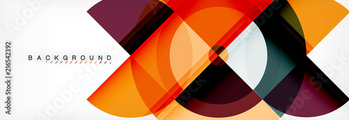 Vector circular geometric abstract background - 216542392