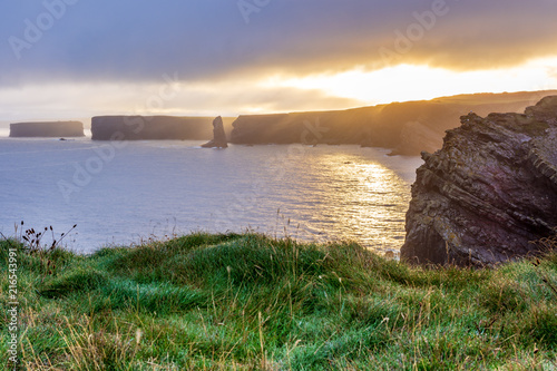 Foto Spatwand Zonsopgang Sunrise at Kilkee Cliffs