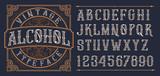 Vintage decorative font. - 216546919
