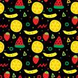 Cute fruits seamless pattern - 216547328