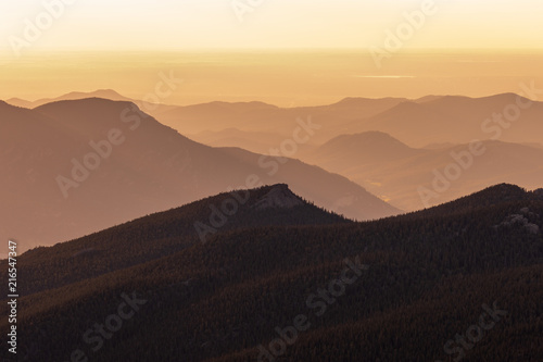 In de dag Landschappen Scene Mountain Sunrise