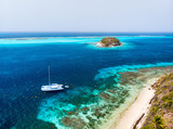 Top view of Tobago cays - 216551305