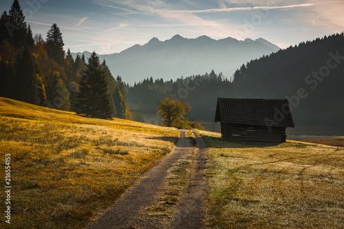 Fotobehang Grijze traf. Bavarian landscapes in autumn