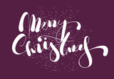 Merry Christmas lettering. Calligraphy vector text