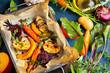 Leinwanddruck Bild - Oven Roasted vegetables