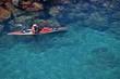 Quadro Uomo in canoa presso Sorrento - Napoli - Campania - Italia