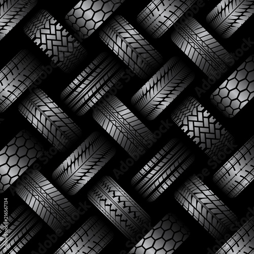 Cars tire tracks background