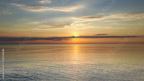 Fotobehang Zee zonsondergang Calm