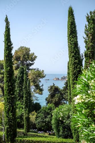 Canvas Barcelona Gardens of Santa Clotilde, Catalonia