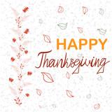 Happy thanksgiving handwritten lettering.